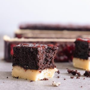 Sugary & Buttery - Raspberry Chocolate Fudge Bars