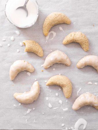 Marzipan Crescent Cookies (gluten-free)